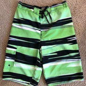 Hang Ten Boys Board Surf Swim Green Shorts
